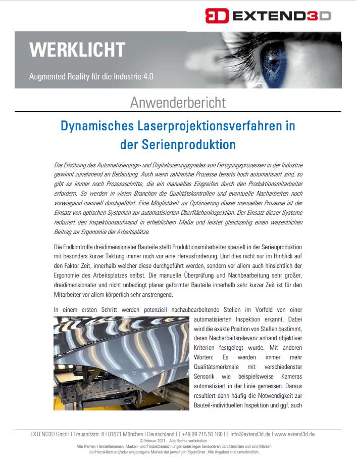 Dynamisches Laserprojektionsverfahren in der Serienproduktion